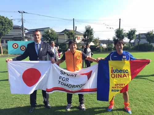 ルーマニアの伝統スポーツ「オイナ」と日本の伝統文化に基づいた新スポーツ「スポーツ鬼ごっこ」の国際交流試合2