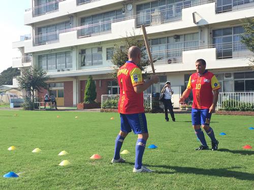 ルーマニアの伝統スポーツ「オイナ」と日本の伝統文化に基づいた新スポーツ「スポーツ鬼ごっこ」の国際交流試合6