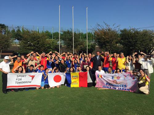 ルーマニアの伝統スポーツ「オイナ」と日本の伝統文化に基づいた新スポーツ「スポーツ鬼ごっこ」の国際交流試合7