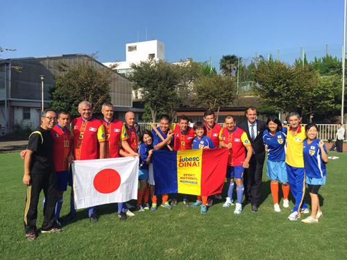 ルーマニアの伝統スポーツ「オイナ」と日本の伝統文化に基づいた新スポーツ「スポーツ鬼ごっこ」の国際交流試合5