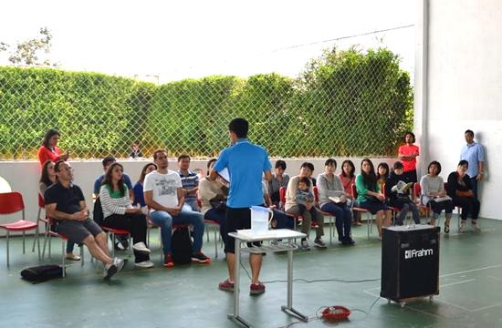 ブラジルの幼稚園での鬼ごっこワークショップ開催2