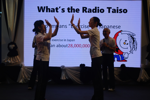 Development of Radio-taiso in Thailand (Booth Exhibition and Performance at a Congress)4