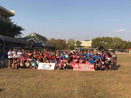 JSC×JRFU ガールズラグビー クリニック&フレンドリーマッチ in タイ2