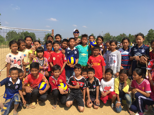 """""""Cambodia Project: Ball Games on Land Without Landmines""""1"""