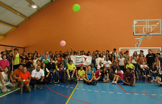 """Dissemination of """"Fusen Volleyball (Balloon Volleyball)"""" </br>and """"Takkyu Volleyball (Table Tennis Volleyball)"""" in Brazil, Paraguay, and Argentina4"""