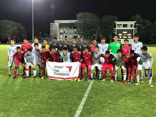 南アジア・日本U-16サッカー交流1
