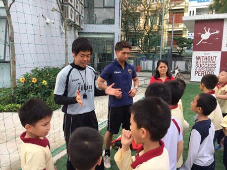 ベトナム・ハノイにおけるサッカー教室3