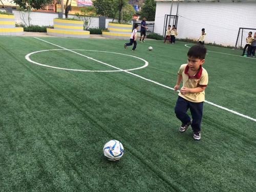 ベトナム・ハノイにおけるサッカー教室4