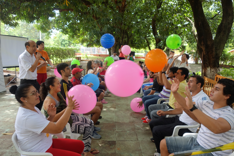 """Dissemination of """"Fusen Volleyball (Balloon Volleyball)"""" </br>and """"Takkyu Volleyball (Table Tennis Volleyball)"""" in Brazil, Paraguay, and Argentina1"""