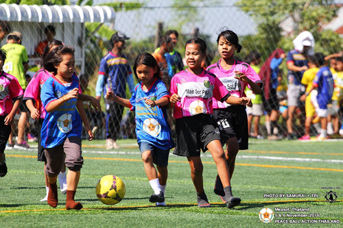 ピースボールアクションタイランドによる新品、中古ボールの開発途上国への提供事業、サッカー大会開催1