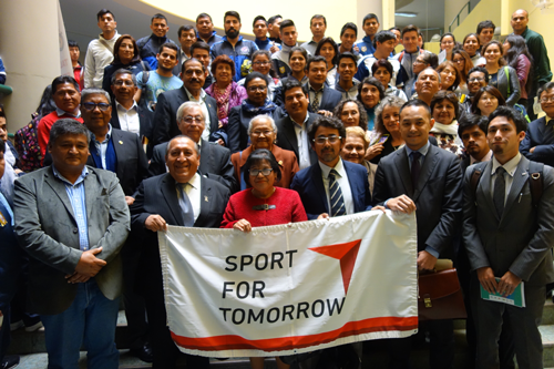 Conducting workshops on Physical Education in Peru and Japan1