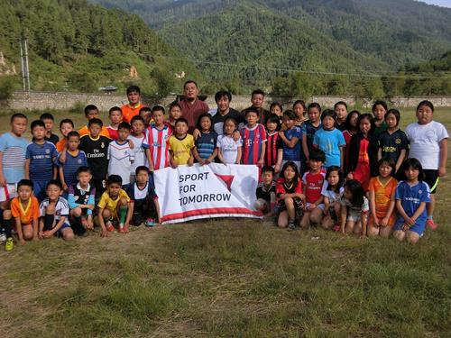 ブータンサッカーにおける普及活動1