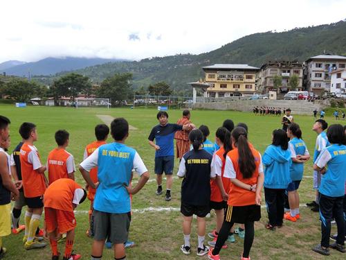 ブータンサッカーにおける普及活動2