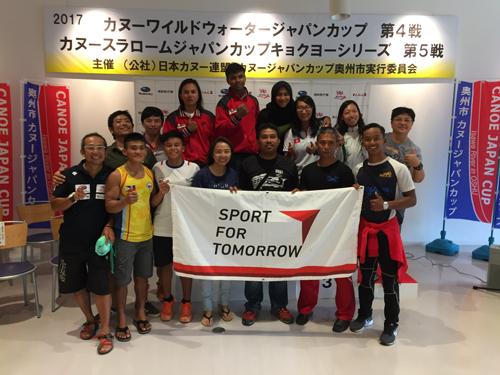 JSC-JOC-NFによる西が丘ハイパフォーマンスセンター等を活用した連携プログラム<br />アジア5か国招聘 カヌースラロームキャンプ・ジャパンカップ第5戦4
