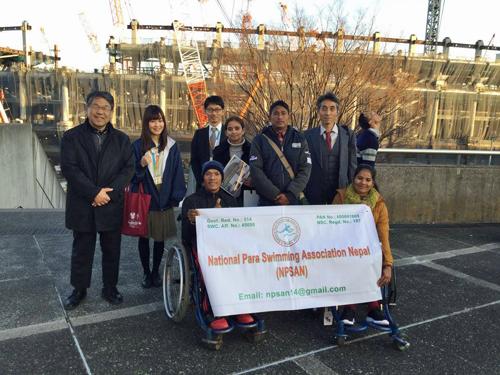 ネパールパラ水泳協会との交流・水泳指導(東京)1