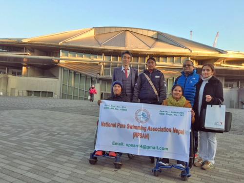 ネパールパラ水泳協会との交流・水泳指導(東京)2