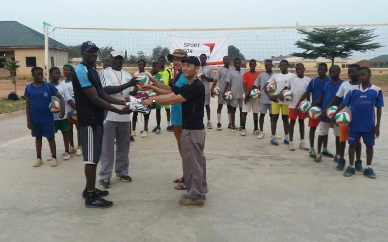 ナイジェリア連邦青年スポーツ省へのスポーツ用品寄贈式4