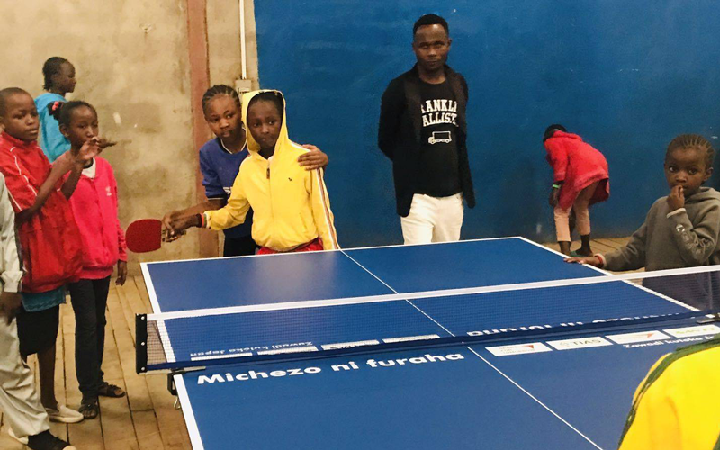 【Kenya】Table Tennis Tables Donated as a Part of Support in Kenya2
