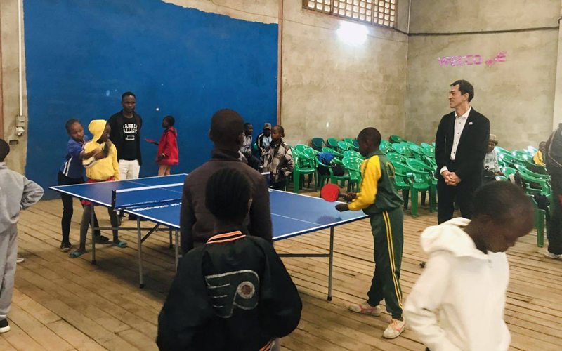 【Kenya】Table Tennis Tables Donated as a Part of Support in Kenya4
