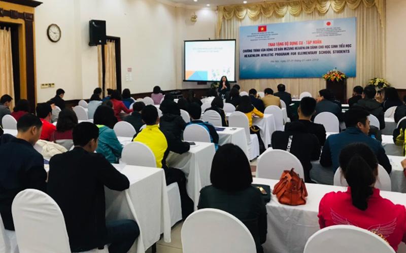 対ベトナム社会主義共和国 初等義務教育 <br/>ミズノヘキサスロン運動プログラム導入普及促進事業(2018年度)5
