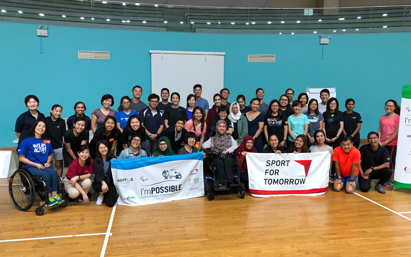 "【Singapore】Teachers' Training with the Paralympic Textbook ""I'm POSSIBLE"" in Singapore3"