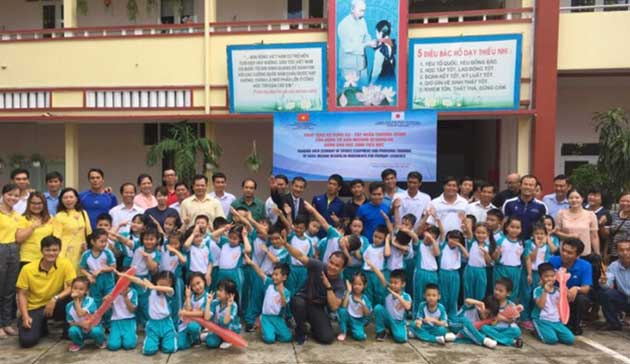 【Vietnam】Project for introducing, spreading and promoting the Mizuno Hexathlon Exercise in primary compulsory education1