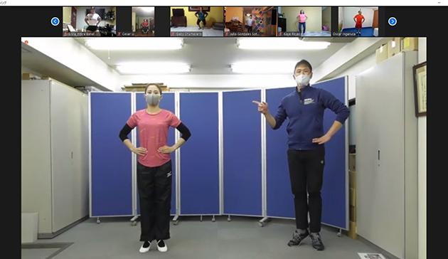ペルー体育教師等向けのラジオ体操オンライン講習会1